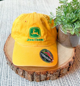 NWT John Deere YELLOW Hat Cap Strapback Pacific Headwear Vintage Collection