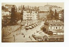 """Lausanne """"Le Petit Chene"""" RPPC Antique CPA Photo—Chocolate Sign—Tabac 1910s"""
