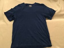 INC V-NECK cotton SHORT SLEEVE T-shirt heather blue v-neck M NWOT