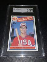 1985 Topps #401 Mark McGwire USA Baseball Team RC Rookie SGC 8.5 NM-MT+