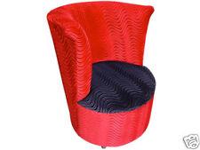 Barrel Chair | Chambers | Red and Black Velvet Swirl