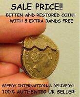 Australian Dollar Bitten and Restored Coin -- David Blaine Close up  Magic Trick