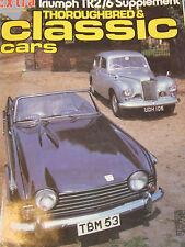 THOROUGHBRED CLASSIC CARS SEP 1980 TRIUMPH TR2/6 SUPPLEMENT TR SPORTS CAR RANGE