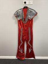 Ex Hire Fancy Dress Costumes- Red Ziggy Stardust Jumpsuit - Size 44 (large)