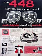 page de publicité - ELECTROPHONE   448 TEPPAZ   en 1960 ref. 45897