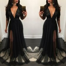 Women Long Formal Prom Dress Bridesmaid Cocktail Party Ball Gown Evening Dresses