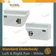 1 x NEW Pair of White Underbody Under Tray Steel Ute Trade Workman Tool Boxes