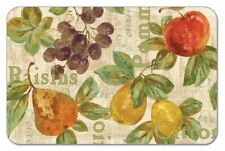 4 Plastic Fruit Grapes Apples Tuscany CounterArt Placemats Mats Red Green Tan