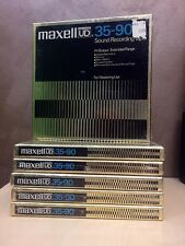 "Maxell UD 35-90 NEW SEALED 1/4"" REEL TO REEL tape Japon Made"