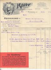 Wittenberg alte Rechnung Kant Kakao und Schokoladenfabrik 1921 dekorativ RAR