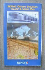 Vintage 1999 Septa Philadelphia Suburban Transit & Street Map Rail Bus Trolley