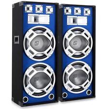 "2000W DJ PA LAUTSPRECHER BASS BOXEN SET 2x15"" SUBWOOFER HIFI STEREO SOUND ANLAGE"