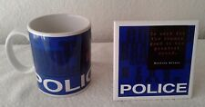Police Officer Ceramic Mug and Coaster Set by Vanmark Collectibles