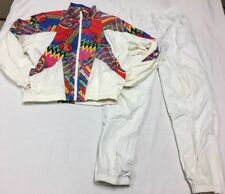 Vintage Head Sportswear Track Suit Women's Two Piece Jacket Pants White Medium }