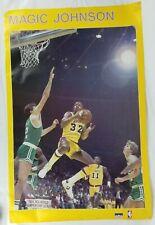 RARE Vtg 1980s Magic Johnson Original Los Angeles Lakers Starline Poster 22x34
