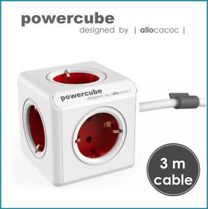 allocacoc PowerCube Extended 5x SCHUKO Mehrfachsteckdose 3m Verlängerungskabel