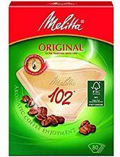 Genuine Original MELITTA 102 Paper Filters Coffee Machine Brown Filter Box x 80