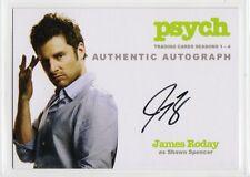 Psych Season 1-4 Autograph card James Roday/Shawn Spencer A1 auto