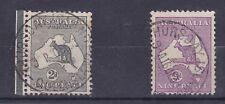 K425) Australia 1913 2d 1st wmk grey Kangaroo used on Thursday Island