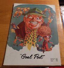 """#""""THE GOAL POST"""" FOOTBALL PROGRAM """"UCLA BRUINS vs CALIFORNIA"""" Oct. 29, 1949"""