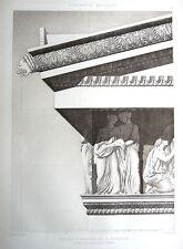 12 ~ ERECHTHEUM TEMPLE ATHENS 1905 CLASSICAL GREEK Architecture DESIGN Art Print