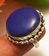 Blue Agate Gemstone Adjustable Ring 925 Sterling Silver Plated U229-A110