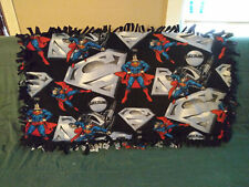 Superman Fleece Knotted Tied Handmade Blanket Throw 51 x 27 inches