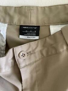 "NIKE GOLF Fit-Dry Khaki Four Pocket Men's Golf Shorts Size 34"" $75"