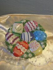 Fitz and Floyd Chicks & Eggs Canape Plate Easter Decoration