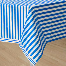Incroyable BLUE AND WHITE STRIPES PLASTIC TABLE COVER ~ Birthday Party Supplies  Decorations