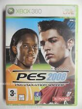 Jeu PES 2008 sur xbox 360 game francais pro evolution soccer foot ball sport