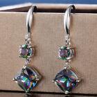 Women Jewelry Mystic Topaz Drop Earrings 925 Silver Earring For Women A Pair/set