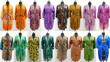 20 Pc Indian Vintage Silk Sari Printed Kimono Robes Dressing Gowns Bridesmaids