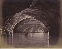 Capri Grotta Azzura Di Dopo Disegno Italia Vintage Albumina Ca 1875
