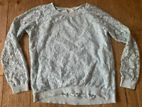 H&M!! girls mint green, lace look, jumper size 12, Worn Twice