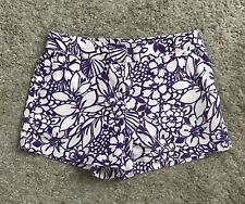 NEW YORK & COMPANY Womens Size 0 Floral Print Summer Shorts NYC Linen Blend