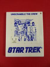 Vintage~Star Trek~Unscramble The Crew~ Puzzle Toy~Collectible~Spock,Kir k,Sci-Fi