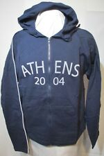 """Olympics Athens 2004 Sweatshirt Hoodie Zipper front Woman's XL 40""""chest  NOS New"""
