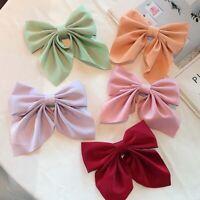 2Pcs Hairpin Headdress Solid Color Bow Duckbill Clip Hair Clip Hair