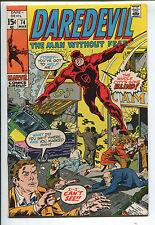 Daredevil #74 - City Gone Blind! - 1971 (Grade 8.5)