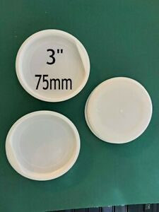 """6 Plastic Spare END CAPS for Postal Tube 3"""" inch  75mm white posting CHEAP"""