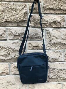 Lacoste Blue Large Flat Crossover Bag