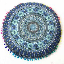 Round Indian Mandala Bohemian Cushion Case Sofa Throw Waist Pillow Cover