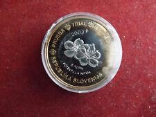 *Slowenien 1 Euro Probe Silber PP ca.25g(999) 2003 mit Teilvergoldung*(KOM.)