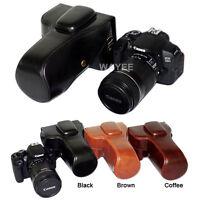 Leather camera case bag Grip for Canon EOS Rebel T5i T4i T3i 700D 650D 600D