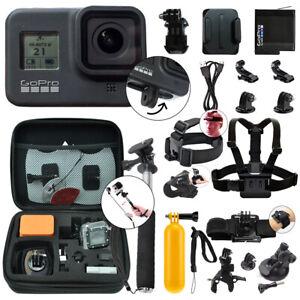 GoPro HERO8 Black 12 MP Waterproof 4K Camera Camcorder + Complete Action Bundle