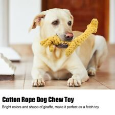 New listing Dog Chew Toy Cotton Rope Pet Teeth Cleaning Toy Bite-resistant Giraffe Bite Toy