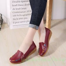 New Women Chic Slip On Outdoor Comfort Gommino Print Loafers Boat Shoes Casual Y