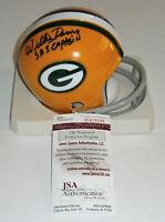PACKERS Willie Davis signed mini helmet w/ SB I Captain JSA COA AUTO Autographed