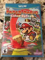 Paper Mario Color Splash Nintendo Wii U Brand New Factory Sealed